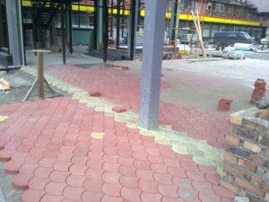 устройство тротуара из брусчатки